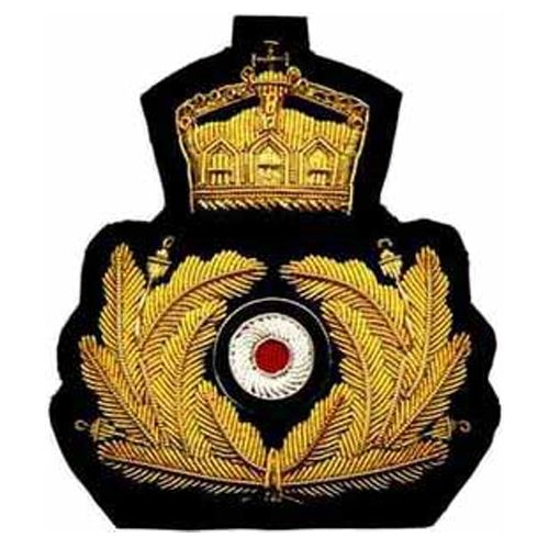 Army Officer's cap badges are gold and silver bullion wire embroidered. Hud Badges make Navy Cap Badges, Crown and Star badges in sew on variety and with Velcro backing. http://hudbadges.com/detail.php?live=1_0_0_48