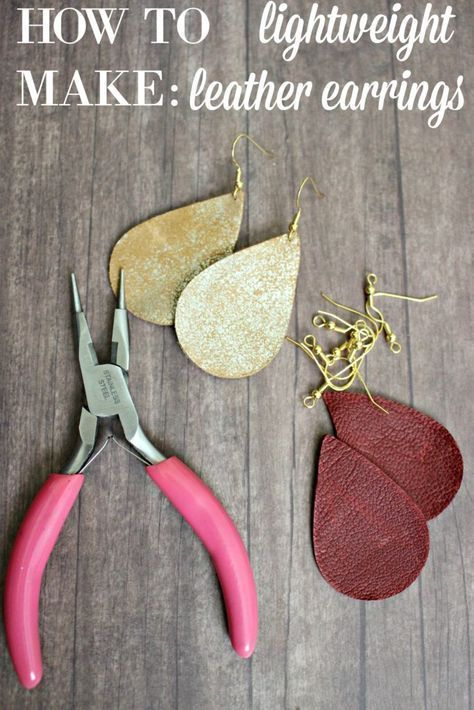 Diy Leather Earrings These Are Lightweight Easy To Make Customize Earringsmaking