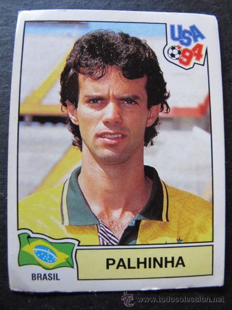Cromo pegatina Palhinha Brasil mundial USA 94 coleccion panini n 104 futbol