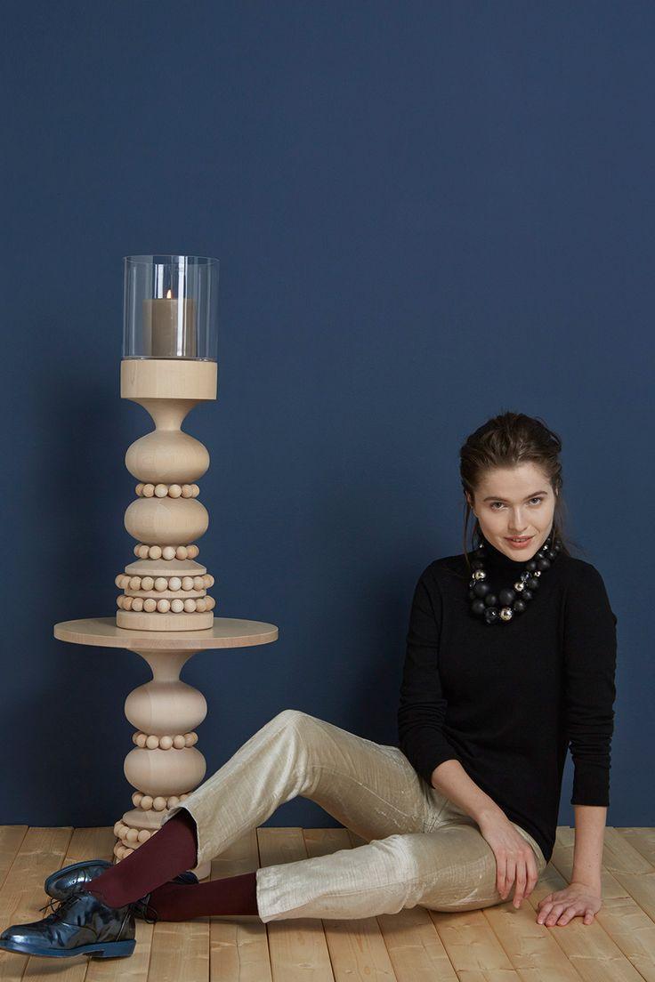 Renessanssi necklace, Keisarinna table and candle holder - Aarikka jewellery
