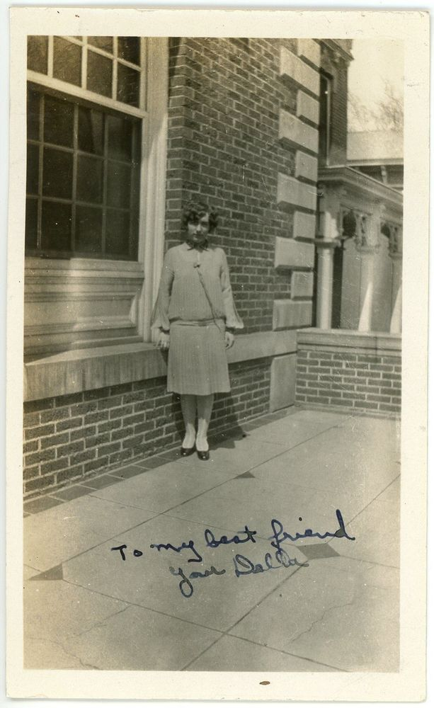 1926 Photo Ohio University Athens OH Flapper College Girl Della Lindley Hall