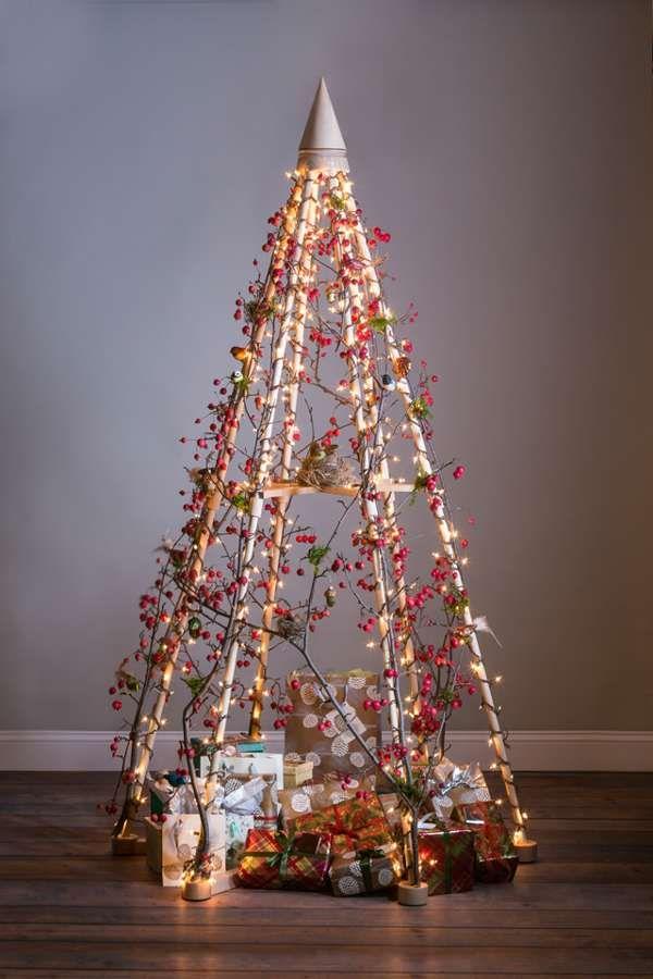43 besten alternative christmas tree bilder auf pinterest weihnachtsbaum ungew hnliche. Black Bedroom Furniture Sets. Home Design Ideas