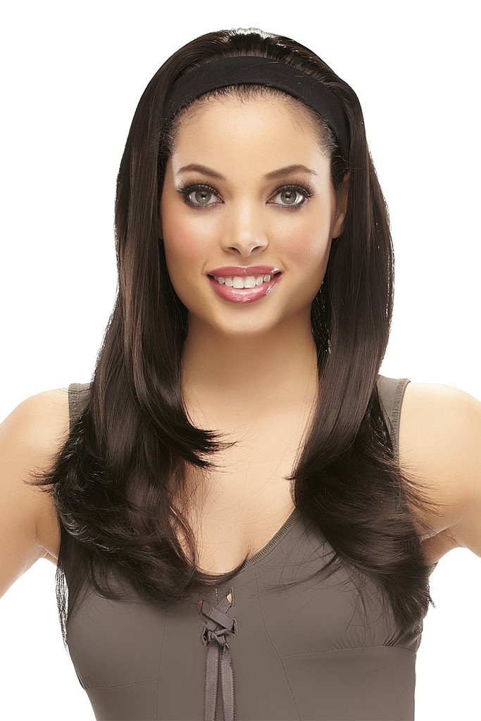 Luscious by easiHair - Headband Hair Extensions - Within seconds of slipping on this headband, you have instant volume on the crown and sides!  All thinning or balding areas instantly disappear!   WigStudio1.com