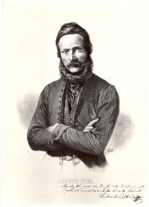 Ľudovít Štúr was the leader of the Slovak national revival in the 19th century, the author of the Slovak language standard eventually leading to the contemporary Slovak literary language. Štúr was an organizer of the Slovak volunteer campaigns during the 1848 Revolution, he was also politician, poet, journalist, publisher, teacher, philosopher, linguist and member of the Hungarian Parliament.