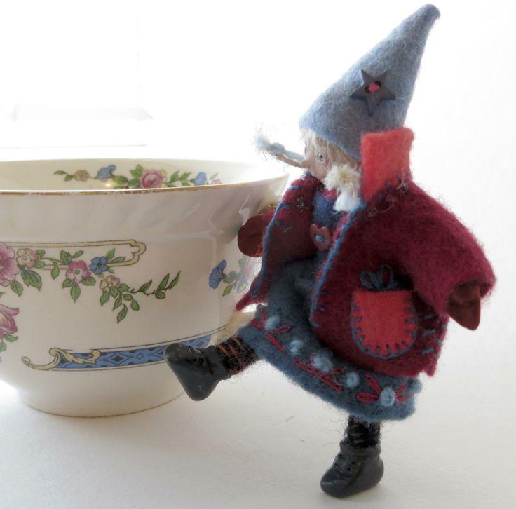 """""""Liesel"""" miniature art doll by Lorraine Krahn Muenster"""