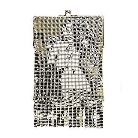 ~Whiting & Davis~ Art Deco Nude Mesh Purse~Circa 1920s~