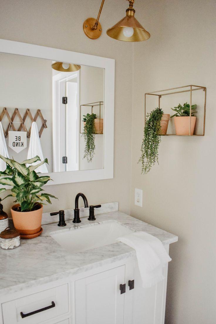 Remodelación de baño moderno Boho | Casa en Longwood Lane
