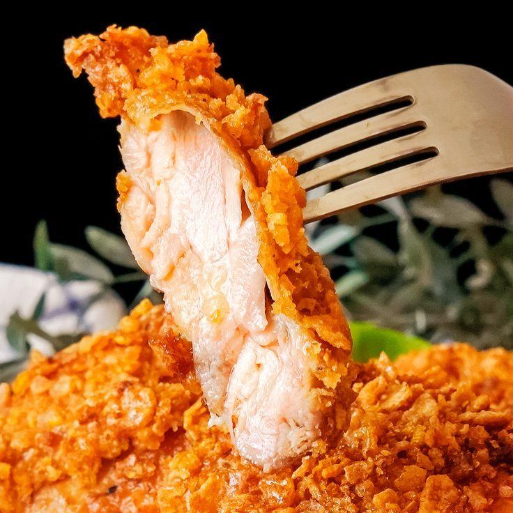 Extra großes knuspriges gebratenes Huhn