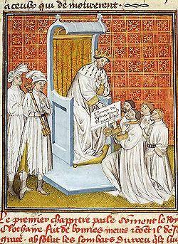 Clotaire II traitant avec les Lombards - Grandes Chronoques de France…