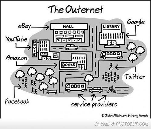 """What the #Internet looks like in the """"real"""" world"""