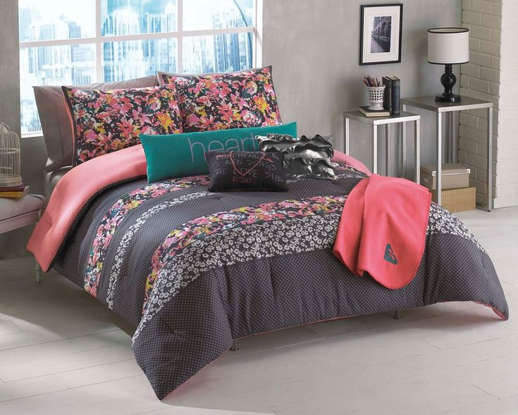 cute roxy bedding Room ideas Pinterest Bedding, Floral Comforter and Body Pillows