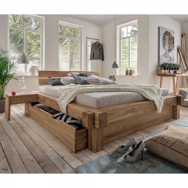 Bett Samira Aus Wildeiche Massivholz Mit Schublade Haus Ikea Zuhause Luxusschlafzimmer