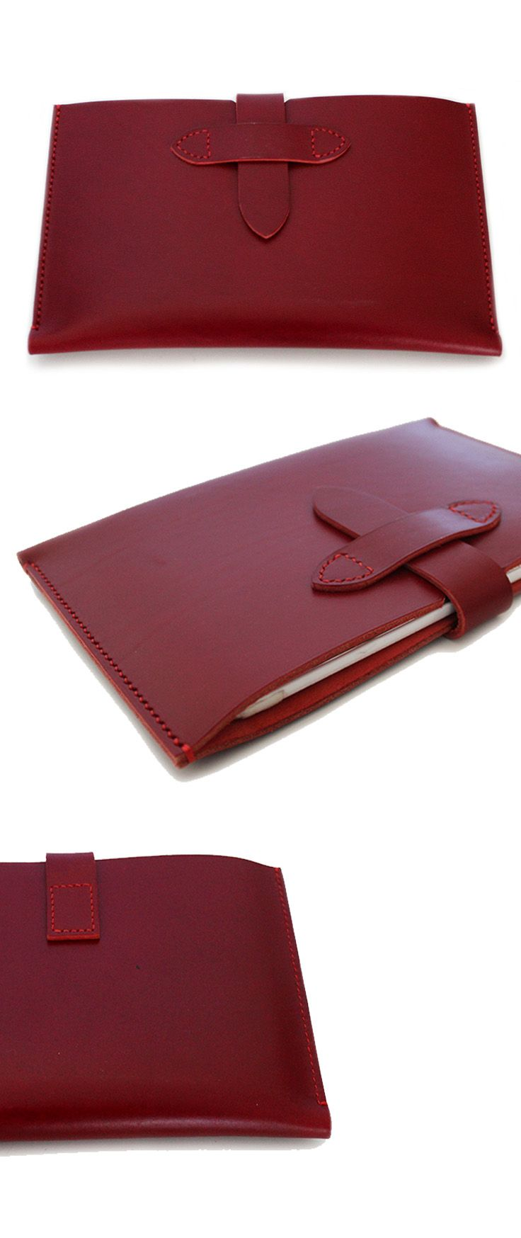 Personalized iPad Pro, iPad Air, iPad Mini, Tablet cases - Hand Stitched Leather Sleeve in Vegetable tanned DARK RED All sizes are available. iPad Mini iPad Pro 9.7 iPad Pro 10.5 iPad Pro 12.9 iPad Air Series amazon fire 7 Lenovo tab case Galaxy tab case ms surface sleeve