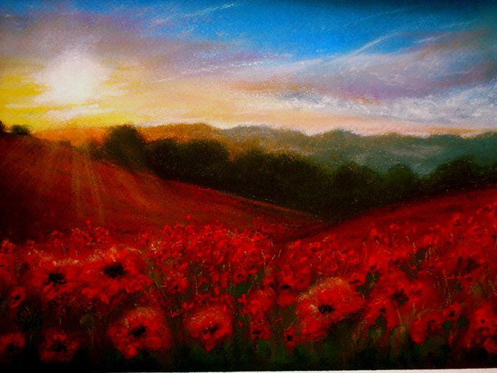In Flanders Fields the poppies blow... by Kath Woollen