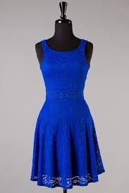 Vintage lace royal blue bridesmaid dress with straps