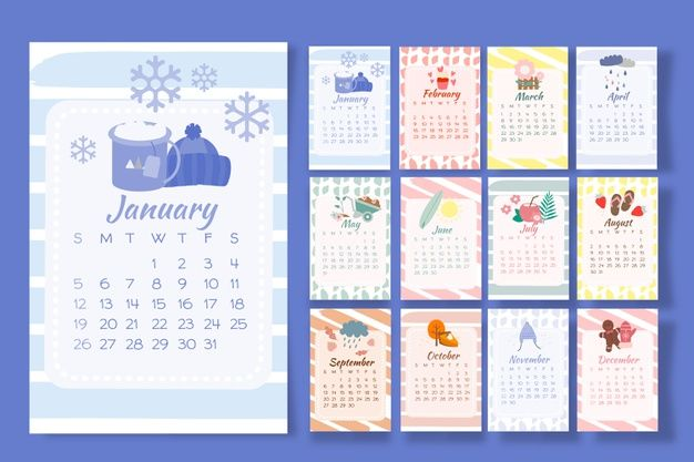 Download Calendar 2020 With Seasonal Elements For Free Calendar Template Free Printable Calendar Free Calendar