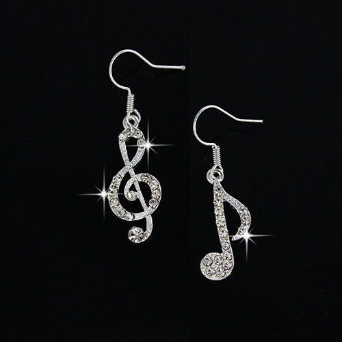 New Summer Music Drop Earrings Fashion Accessories Crystal Dangle Earrings Jewelry Women Gift Free Shipping!E188-in Drop Earrings from Jewelry on Aliexpress.com | Alibaba Group