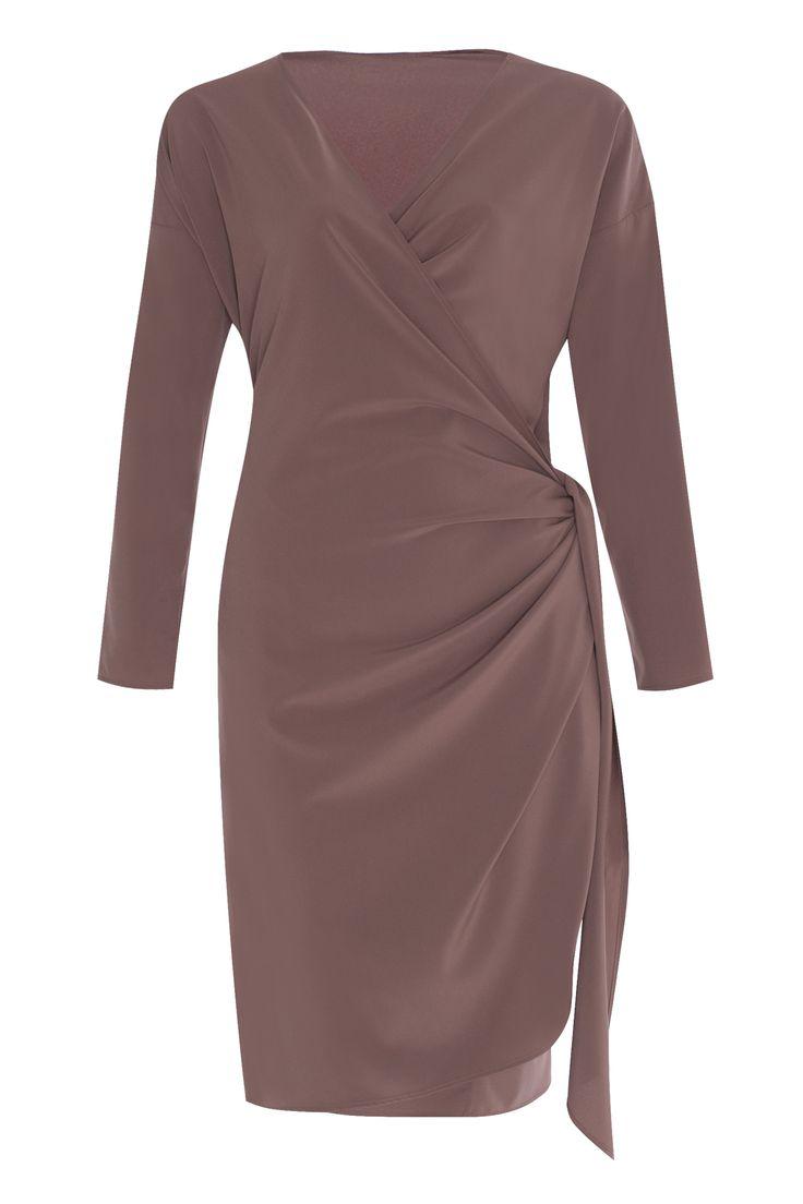 Платье на запах, Капучино - 21000 руб.