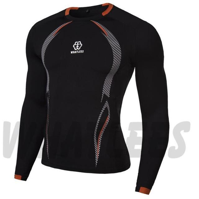 Men Compression MMA Rashguard Fitness Long Sleeves Shirts
