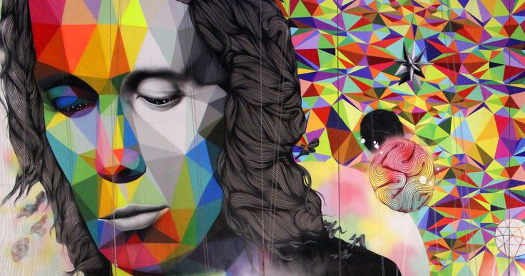 Behind the works of Okuda San Miguel are expressions of existentialism, the universe, the meaning of life and the false freedom of capitalism.