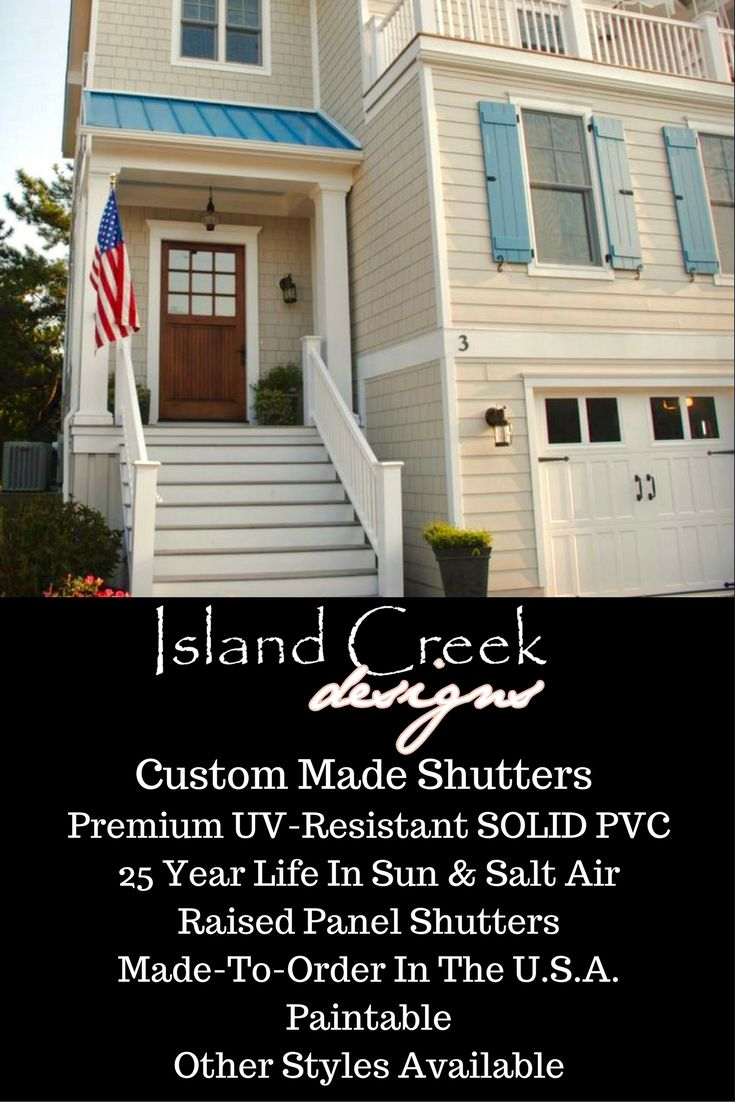 Custom Exterior Vinyl Board U0026 Batten Shutters Painted Blue. . Caribbean  Shutters. Shutters For