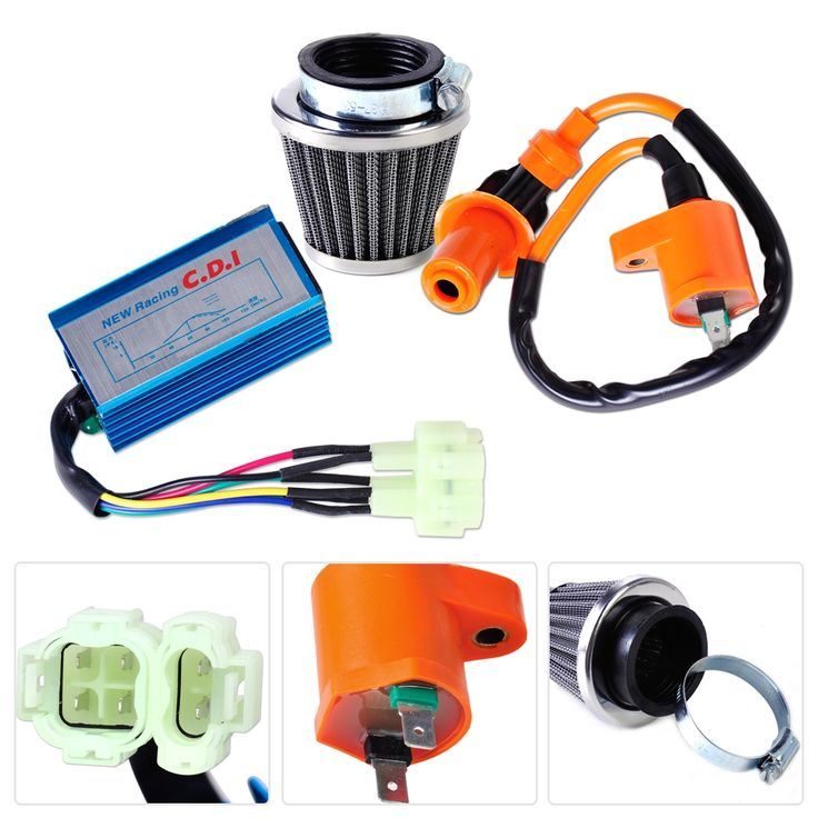 16.08$  Buy here - http://aipbh.worlditems.win/redirect/32712088264 - Motorcycle Racing Performance Ignition Coil +CDI Box +Air Filter Kit Fit for GY6 50cc 150cc Scooter ATV Moped Go Kart Dirt bike   #magazineonlinebeautiful