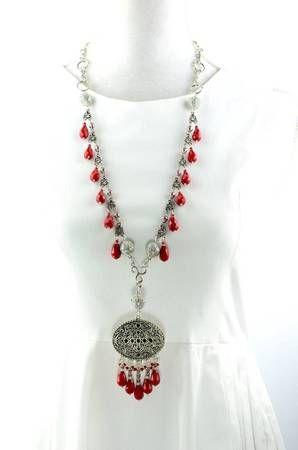 Gorgeous red necklace. Wear it TEN different ways! Watch the video at www.attraxionz.com Attraxionz Modular Magnetic Designer Jewellery - designed & handmade by Kassandra Behrendt.  #attraxionz #modular #modularmagnetic #magneticjewellery #handmade #rednecklace #necklace #valentinesdaygifts #fashion