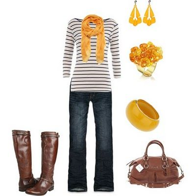 Fall Outfit: Boots Stripes Yellow, Yellow Stripes, Fall Wardrobes, Fall Wint, Fall Outfits Lov, Fallwint Closet, Casual Outfits, Mustard Yellow, Yellow Accessories