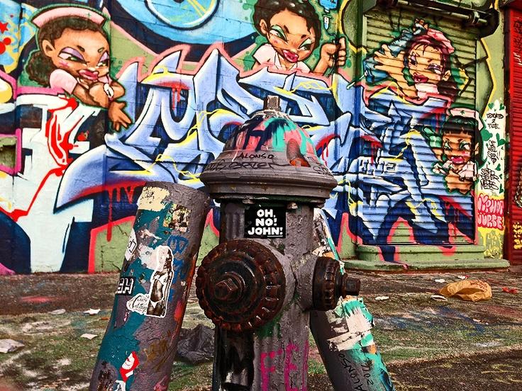 Oh,no!John! at the graffiti mecca 5Pointz in New York! #ohnojohn #nyc #ny #5pointz #graffiti #urban #urbanart #stickerart