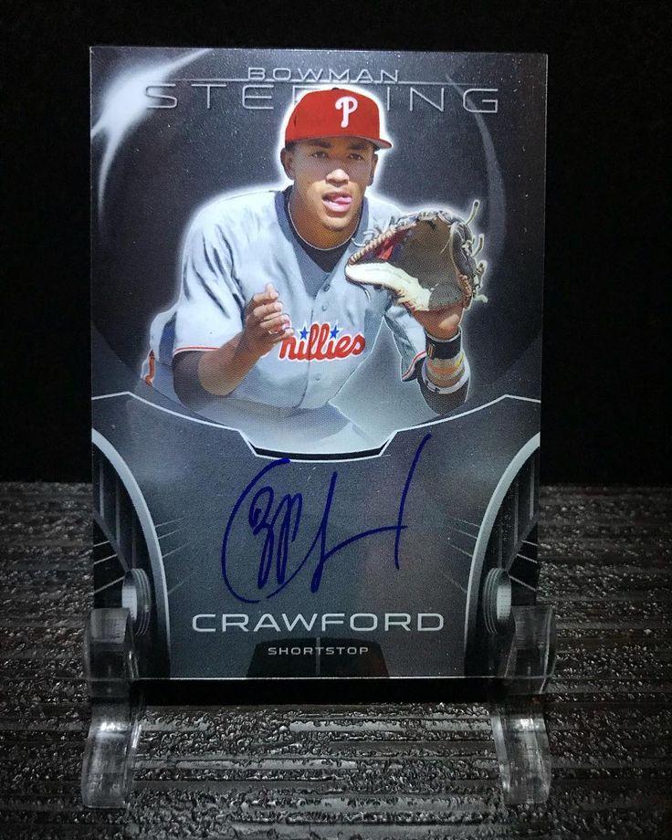 JP Crawford prospect auto from 2013 Bowman Sterling #JPCrawford #philadelphia #mlb #baseballcard #phuture #phillies #baseball #autograph #prospect #rookie #bowmansterling #bowman #sterling