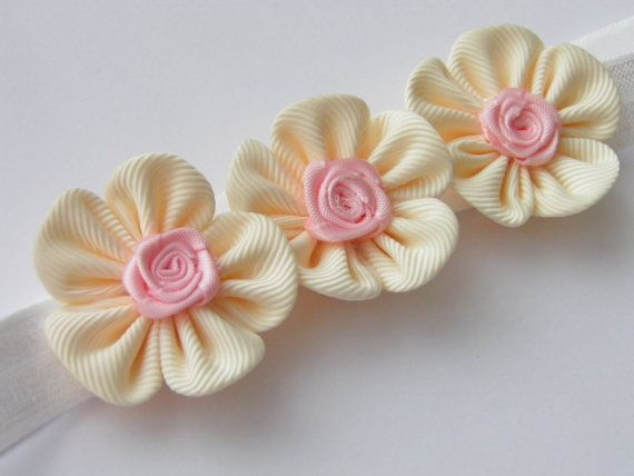 Handmade Baby toddler girl stretchy elastic by MARIASFLOWERPOWER, £2.50