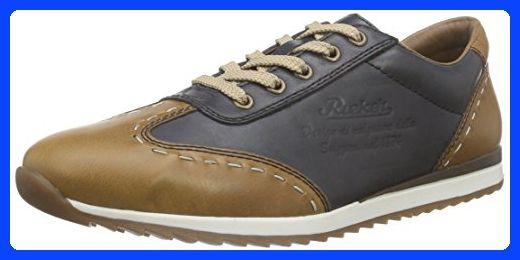 Rieker unisex lace-up shoes blue/brown size 42.0 EU