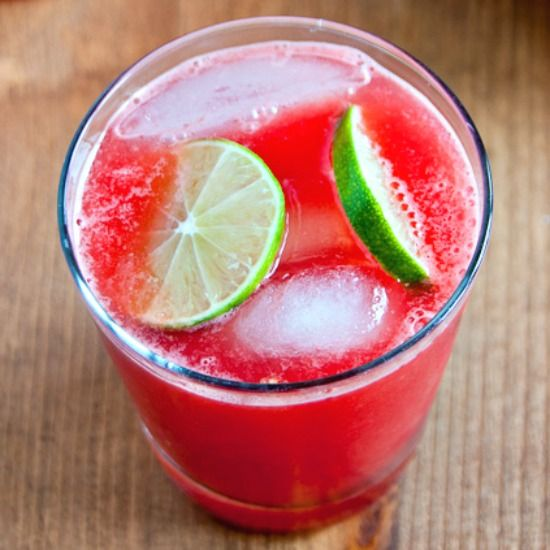 Jalapeno Watermelon Limeade | By WinnieAb | This drink was inspired by the Spicy Watermelon Lemonade at Hundred Acres in NYC. It's super simple to make, and delicious with or without the vodka. | Via: food52.com