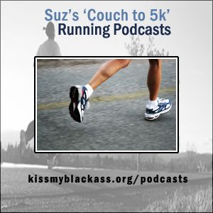 Suz's Couch to 5k Running Podcast - The music is programed for the approriate time and Suz chimes in every once and a while to tell you to run or walk. Great for running outdoors!