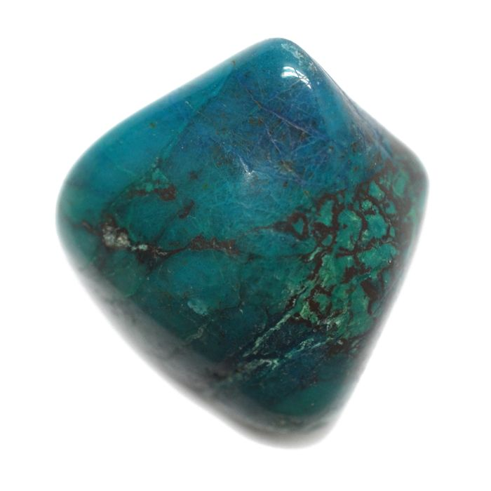"Support • Calming • BalanceA Chrysocolla Stone is a peaceful, soothing crystal that brings comfort in times of stress, change and transition. It helps to calm your emotions and draw negativity from your body. The chrysocolla meaning is also said to increase your capacity to love.    Size: ~ ¾"" - 1½"""