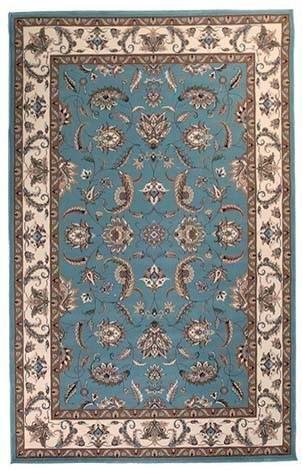 Stunning Formal Floral Design Rug Blue
