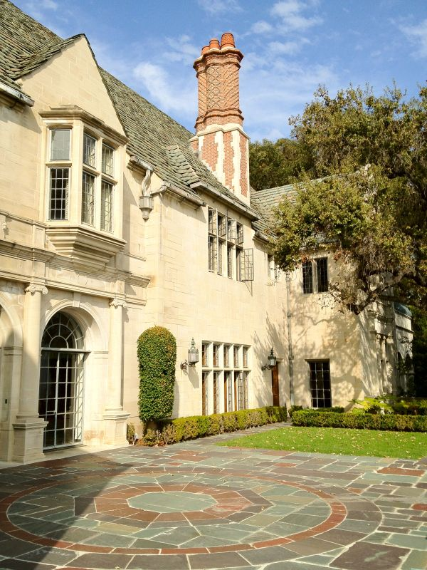 Greystone Mansion in Beverly Hills back exterior