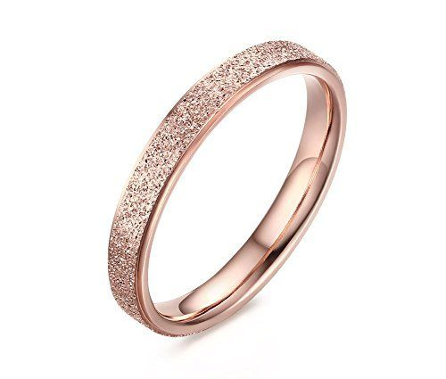 Stainless Steel Sand-Blasted Band Ring for Women Wedding Promise Engagement Rose Gold, http://www.amazon.com/dp/B01GRUDE5E/ref=cm_sw_r_pi_awdm_xs_JN5jyb7DPKNVF