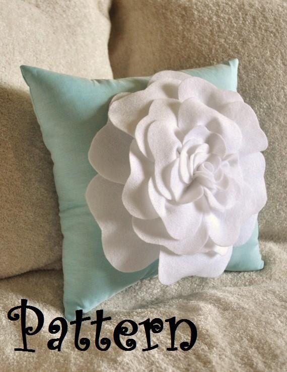 Felt Rose Pillow Pattern Tutorial DIY epattern by bedbuggspatterns, $6.99