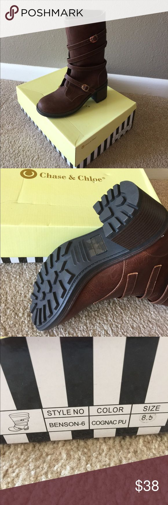 Boots Brand new, never worn Chase and Chloe brown boots chase and chloe Shoes Heeled Boots
