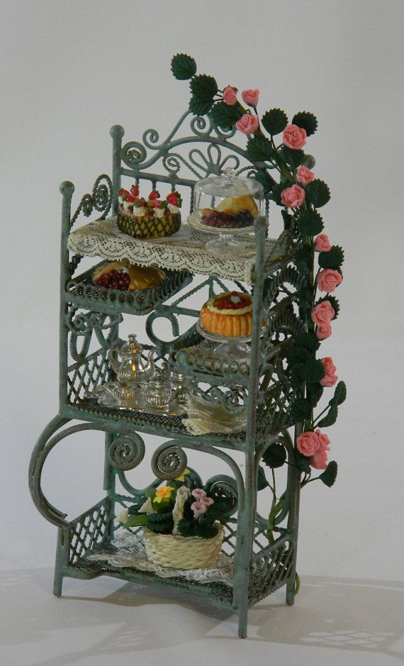 Collectable Hand-dressed Victorian Baker's Rack In by MacaroniPie