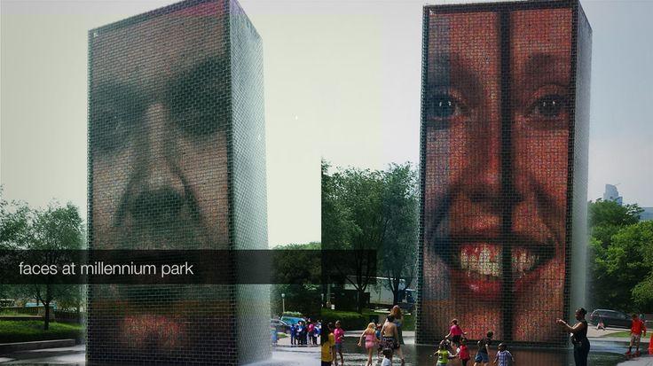 Faces At Millenium Park