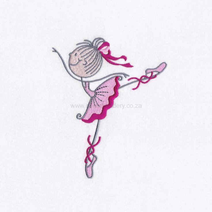 Stick Figure Ballerina No2
