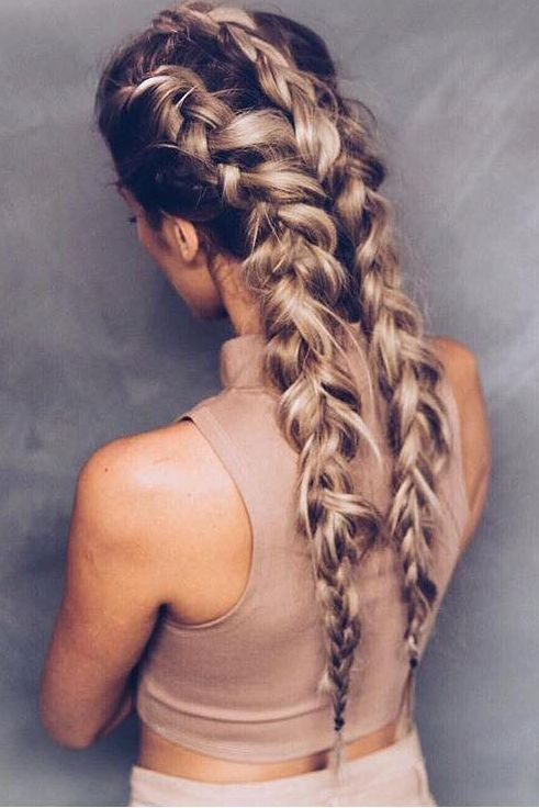Astounding 1000 Ideas About Double Braid On Pinterest Braids Fishtail And Hairstyle Inspiration Daily Dogsangcom