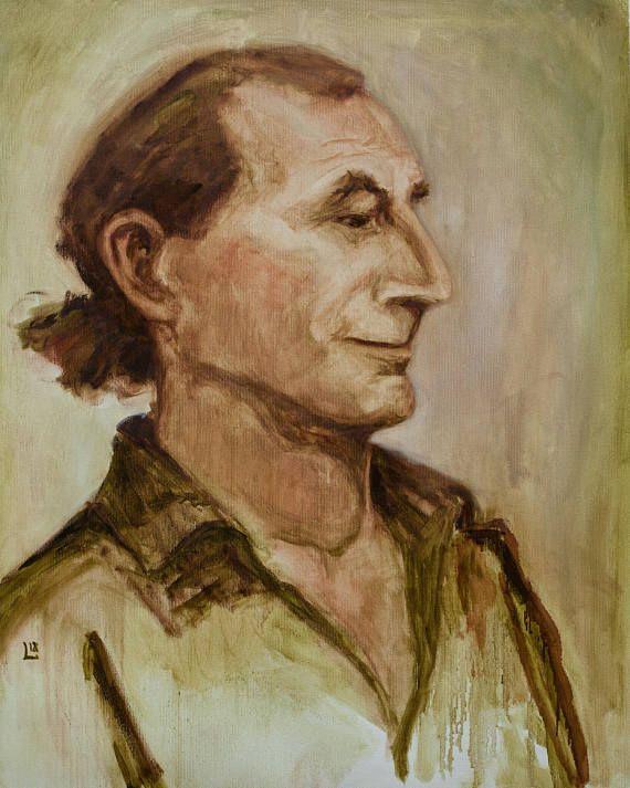 Oil Painting Duggie Original Artwork Portrait Study