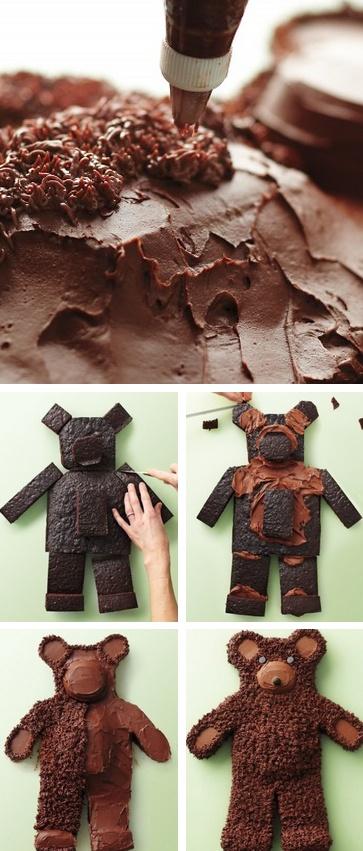 bear cake tutorial! (tutorial) http://thecakebar.tumblr.com/post/20991949328/beary-adorable-tutorial-watch-the-bear-cake