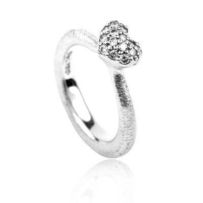 Ring, 18K m. hjerte m. 0.27ct TW.VS, ringe fra Ole Lynggaard | Dirks Design