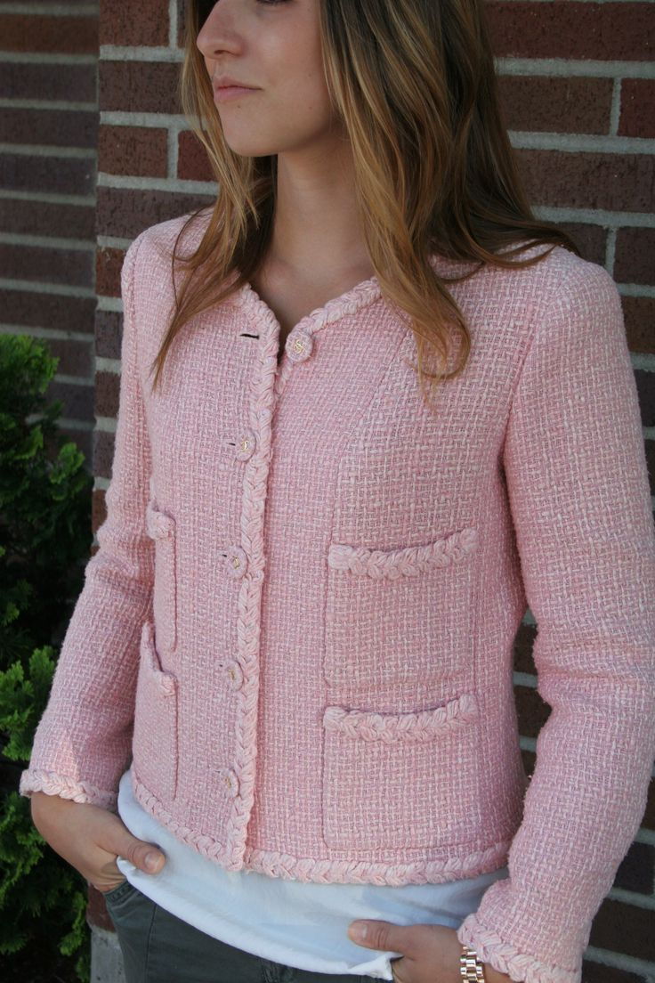 Chanel Pink Jacket www.recycledchicboutique.com