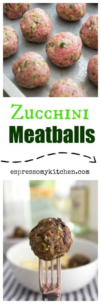 Zucchini Meatballs |These Zucchini Meatballs are tender, moist, and loaded with bursting flavors that will make you come for seconds | espressomykitchen.com