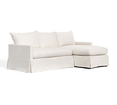 Catalina slipcovered sofa with chaise sectional for Bartlett caramel left corner chaise sectional